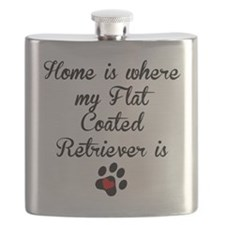 Home Is Where My Flat-Coated Retriever Is Flask