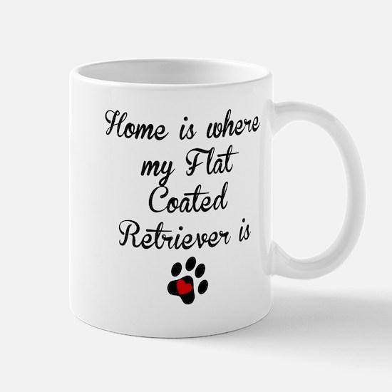 Home Is Where My Flat-Coated Retriever Is Mugs
