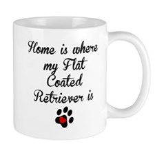 Home Is Where My Flat-Coated Retriever Is Mugs
