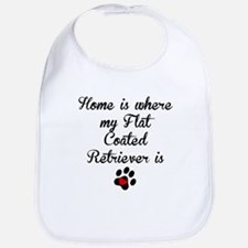 Home Is Where My Flat-Coated Retriever Is Bib