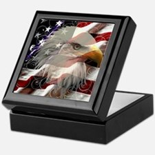 American Eagle Flag Keepsake Box
