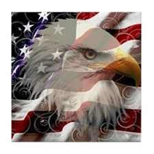 American Eagle Flag Tile Coaster