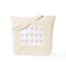 Soft pink romantic floral motif Tote Bag