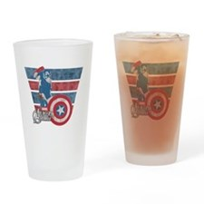 Captain America Drinking Glass