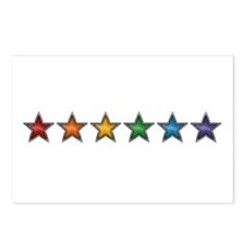 Rainbow Stars Postcards (Package of 8)