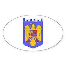 Iasi, Romania Oval Decal