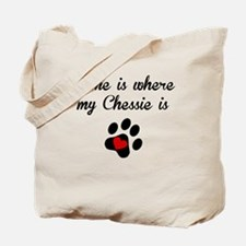 Home Is Where My Chessie Is Tote Bag