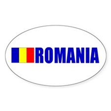 Romania Flag Oval Decal