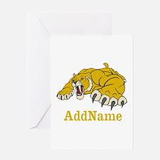 Tiger Roar Custom Greeting Card