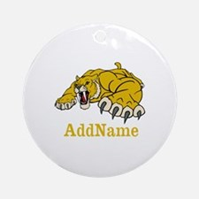 Tiger Roar Custom Ornament (Round)