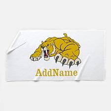 Tiger Roar Custom Beach Towel