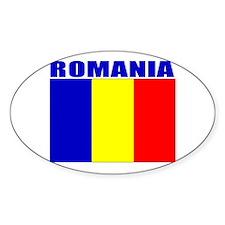 Romania Flag Oval Decal