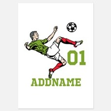 Customizable Soccer 5x7 Flat Cards