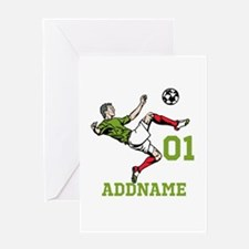 Customizable Soccer Greeting Card