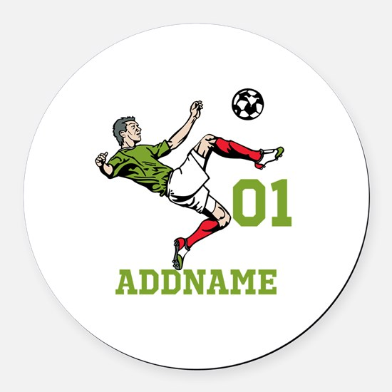 Customizable Soccer Round Car Magnet