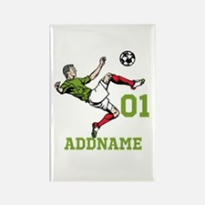 Customizable Soccer Rectangle Magnet (100 pack)