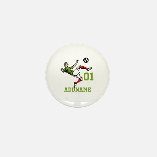 Customizable Soccer Mini Button