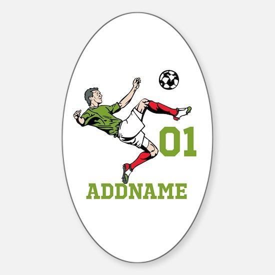 Customizable Soccer Sticker (Oval)