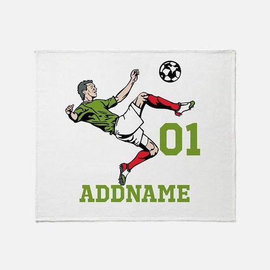 Customizable Soccer Throw Blanket