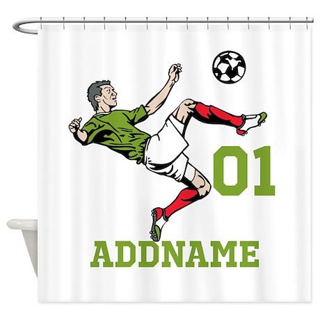 Customizable Soccer Shower Curtain