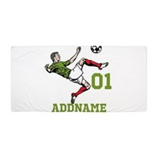 Customizable Soccer Beach Towel