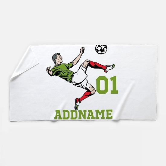 Customizable Soccer Beach Towel