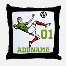 Customizable Soccer Throw Pillow