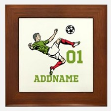 Customizable Soccer Framed Tile