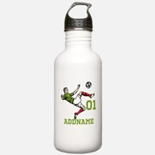 Customizable Soccer Water Bottle