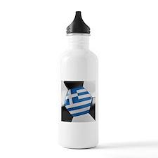 Greece Soccer Ball Water Bottle