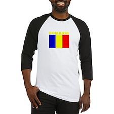 Romania Flag (Dark) Baseball Jersey