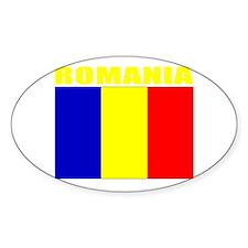 Romania Flag (Dark) Oval Decal