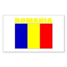 Romania Flag (Dark) Rectangle Decal