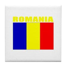 Romania Flag (Dark) Tile Coaster