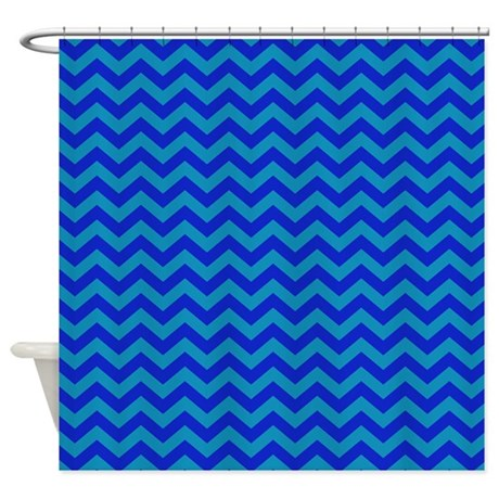 cute blue chevron patterned shower curtain by patternedshop