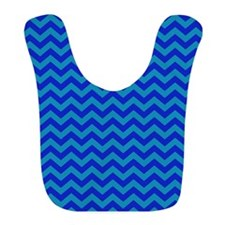 Cute Blue Chevron Patterned Bib