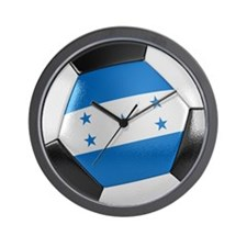 Honduras Soccer Ball Wall Clock