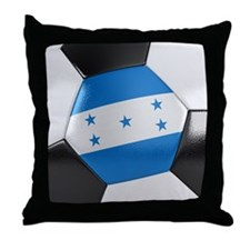 Honduras Soccer Ball Throw Pillow