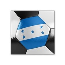 "Honduras Soccer Ball Square Sticker 3"" x 3"""