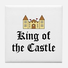 King of the Castle Tile Coaster