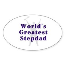 World's Greatest Stepdad Oval Decal