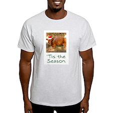 Cow Christmas Ash Grey T-Shirt