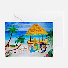 Cute Mermaid beach Greeting Card