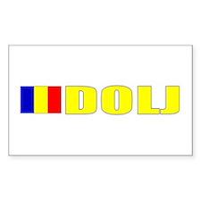 Dolj, Romania Rectangle Decal