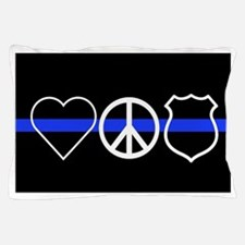 Love Peace Officer Pillow Case