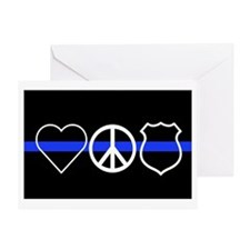Love Peace Officer Greeting Card