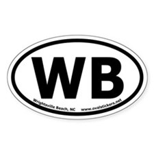 Wrightsville Beach, NC Oval Euro-Style Decal