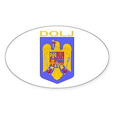 Dolj, Romania Oval Decal
