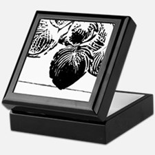 Abstract Leaves And Lines Keepsake Box
