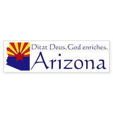 Arizona State Motto Bumper Bumper Sticker